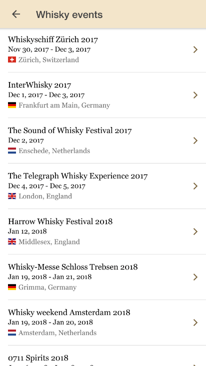 whisky events calendar